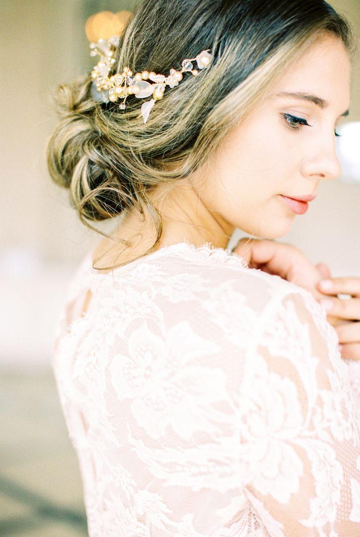 7 best Wedding hair images on Pinterest   Bridal hairstyles, Wedding ...