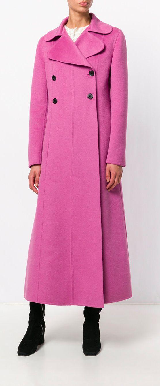 VALENTINO long empire line coat, explore Valentino on Farfetch now.