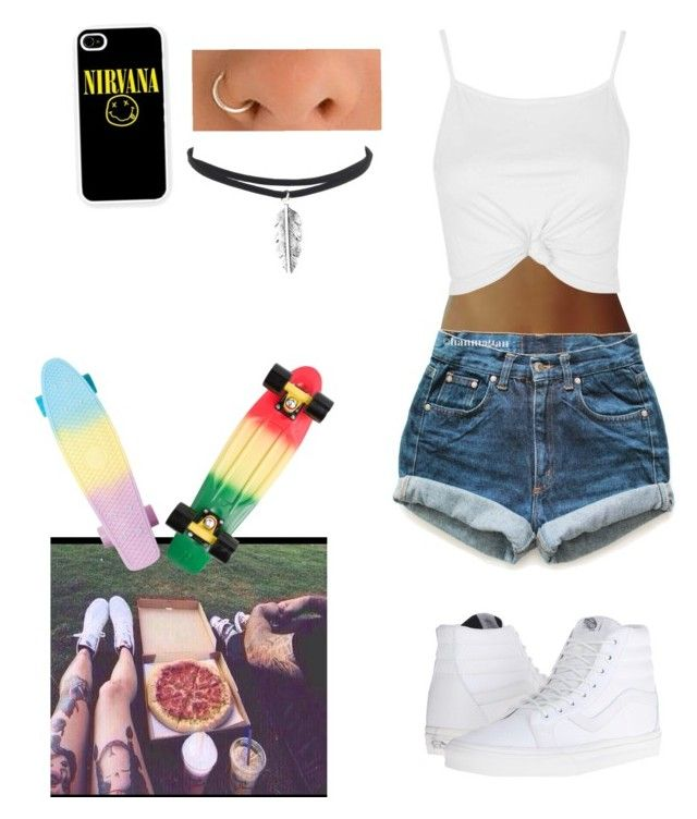 """""""Pizza date at the park"""" by noreliz-morales on Polyvore featuring Levi's, Vans, Topshop and Samsung"""