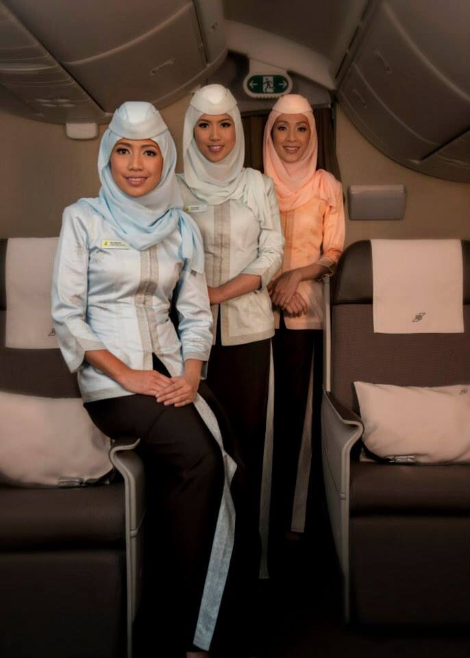 Royal Brunei Airlines new uniform for cabin crew 2014 #inflight #brunei
