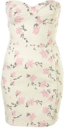 ShopStyle: Pink Flower Cup Bandeau Dress: Bandeau Cups, Flower Cups, Pink Flower, Cocktails Dresses, Clothing Pieces, Parties Dresses, Dresses 90, Bandeau Dresses, Corsets Dresses