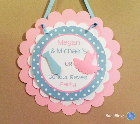 Party Pins: Ties or Tutus Gender Reveal Baby Shower by BabyBinkz