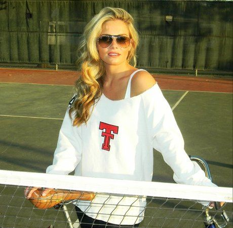Texas Tech off the Shoulder Sweater