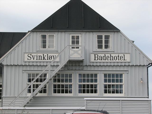 Svinkløv Badehotel one of the many Danish hotels located directly at the ocean. Svinkløv Badehotel, Fjerritslev at the north coast of Jutland, Denmark