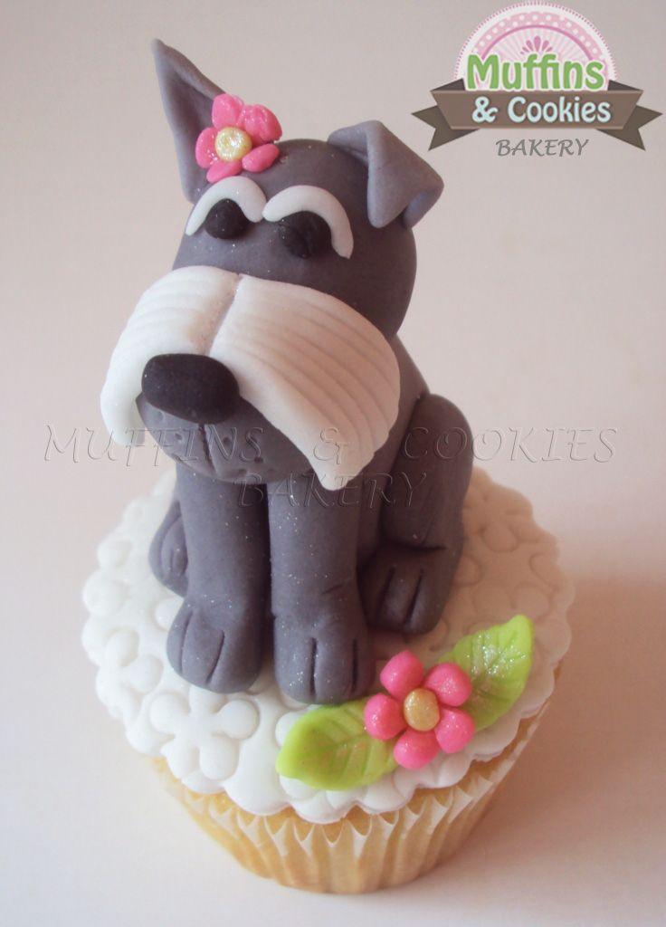 Schnauzer  Muffins / Cupcakes Perrito / Dogs