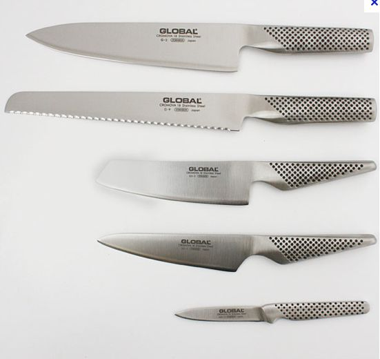 all my knifes in a set. and my only knifes. Global. just wonderful to work with.