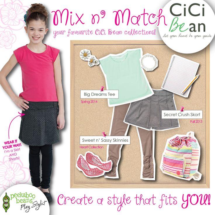 Age appropriate, comfortable, & stylish tween style!   CiCi Bean - clothing for tween girls.   Shop On-Vine at www.peekaboobeans.com/nonaj