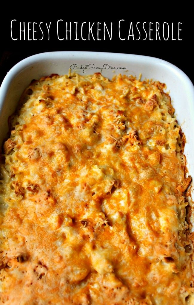 Do you like chicken and cheese? If so this simple casserole dish is for you! Cheesy Chicken Casserole Recipe