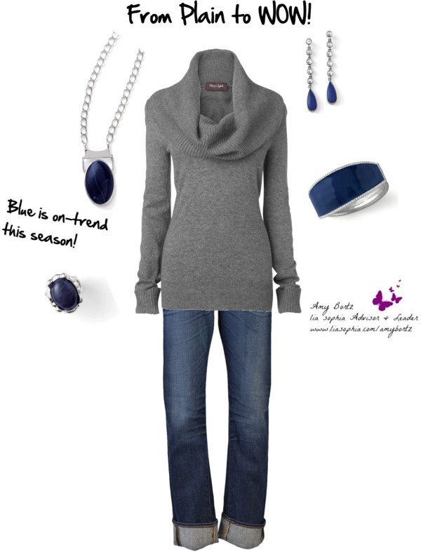 """Blue is the Word!"" by amy-bortz on Polyvore"