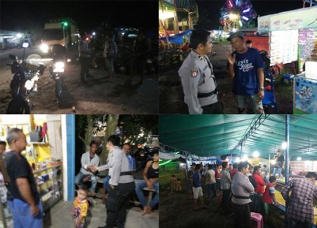 Kubu-Rohil, Oketimes.com - Guna memberikan rasa aman dan ketertiban masyarakat, Kepolisian Sektor Kubu melakukan kegiatan Patroli dan Sambang di Pasar Malam Tap 3 Kep. Teluk Nilap