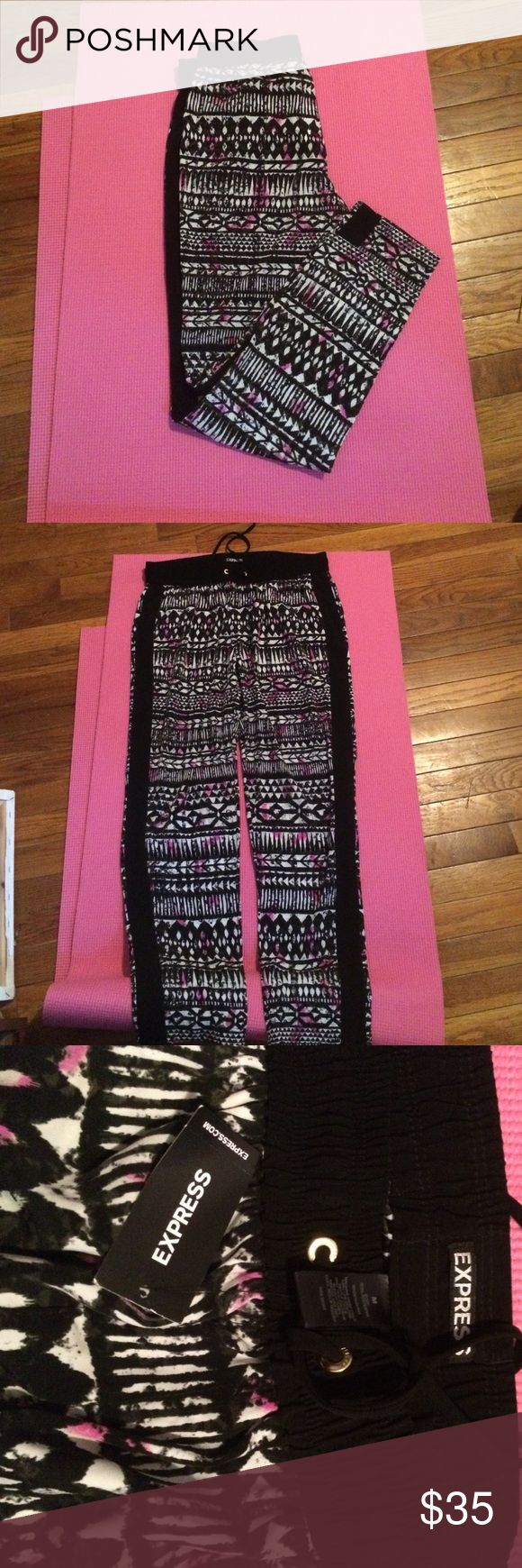 Tribal print pants New with tags never worn tribal print pants Express Pants