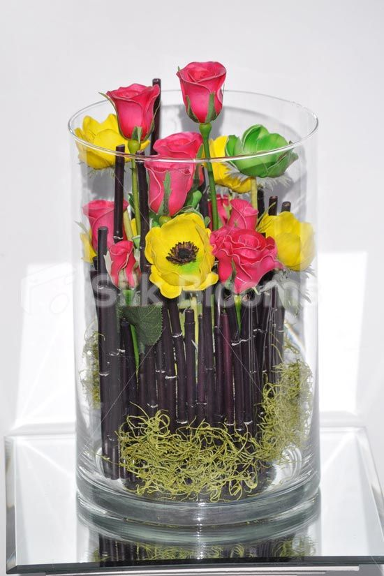 329 best Home Decor With Flowers images on Pinterest Corporate - silk arrangements for home decor