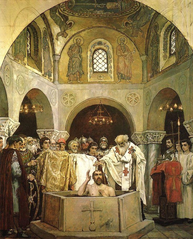 The Baptism of Vladimir, a fresco by Viktor Vasnetsov