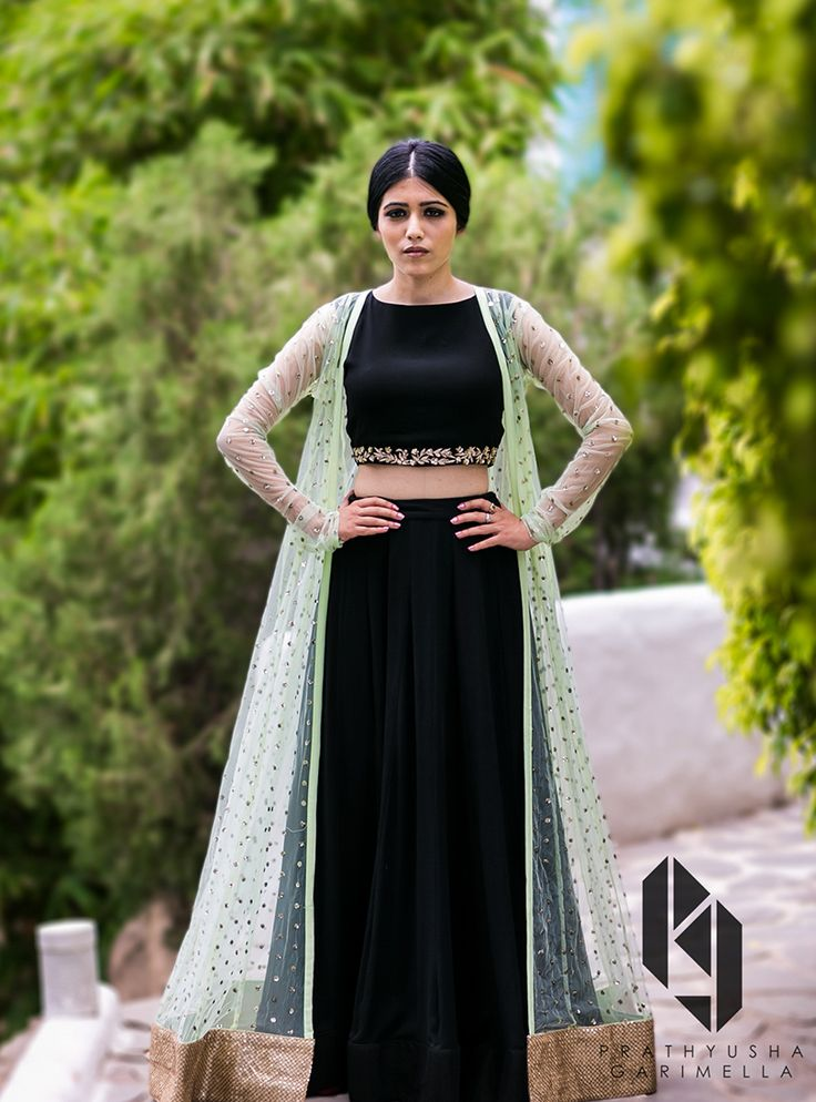 Black n white dress up indian