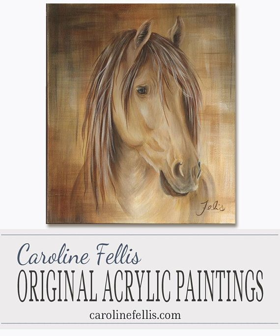 Horse head Acrylic Painting Original artwork Appalaches by