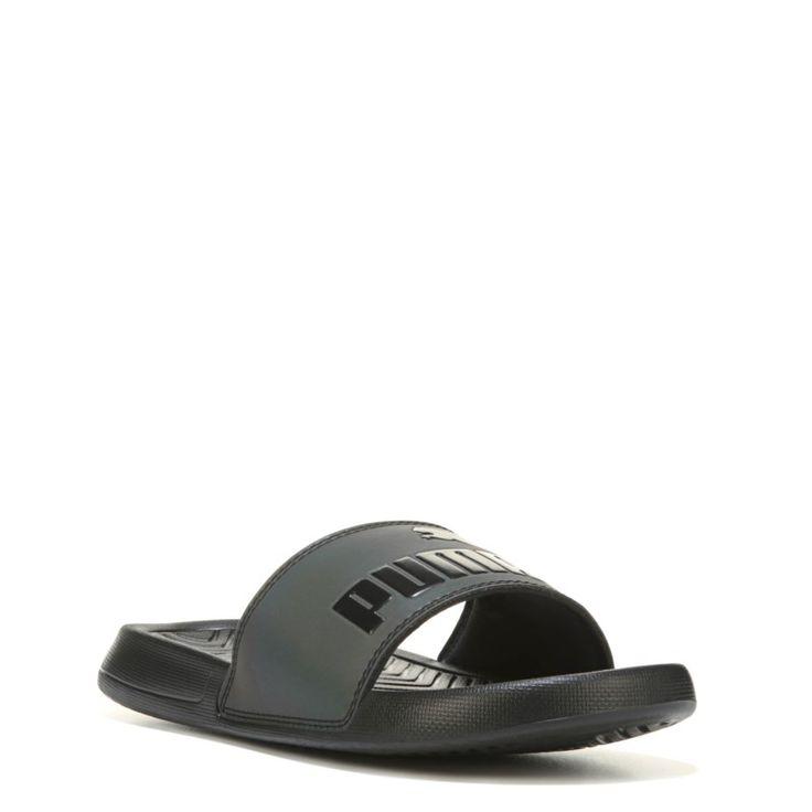 Puma Women's Pop Cat Swan Slide Sandals (Black)