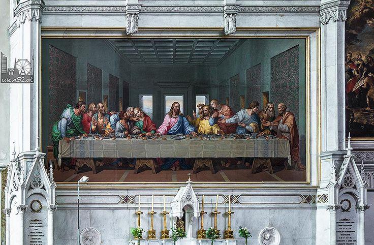 Mosaikkopie von Leonardo da Vincis Letztem Abendmahl @Minoritenkirche - 2015 Woche 14