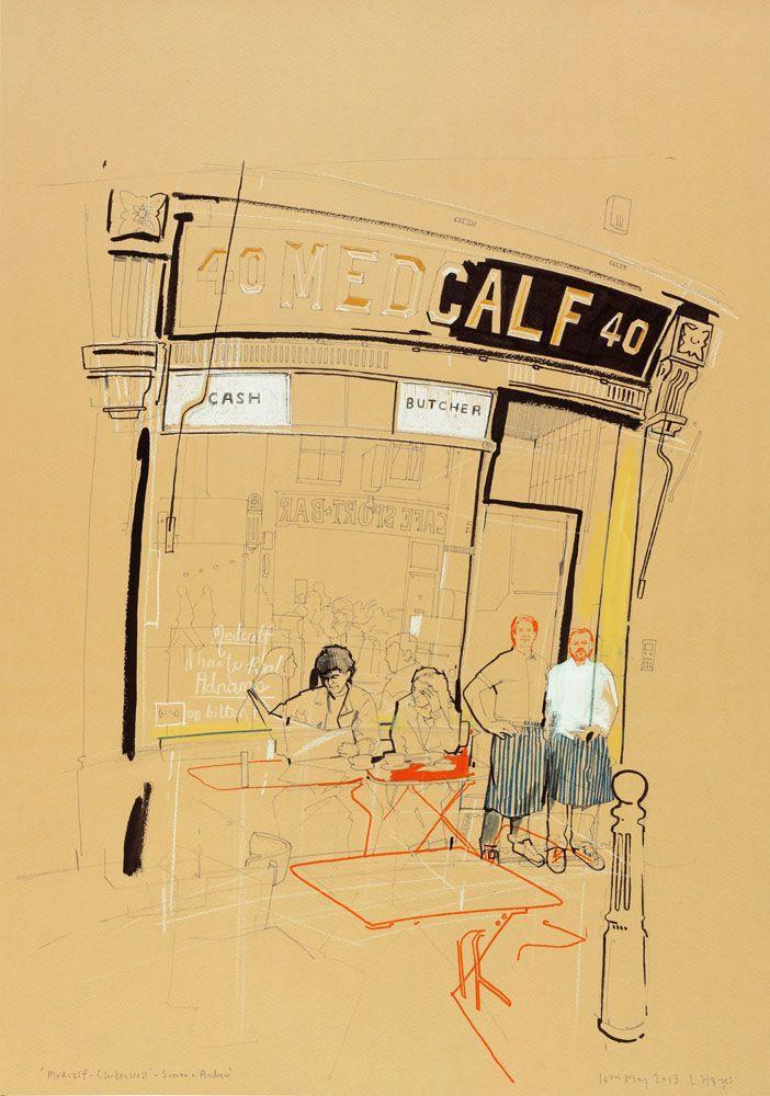 Simon & Andrew-Medcalf Bar & Restaurant by Lindon Hayes #illustrazione #disegno
