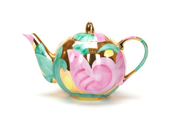 Сервиз чайный 15 предм. Тюльпан Розовая птица