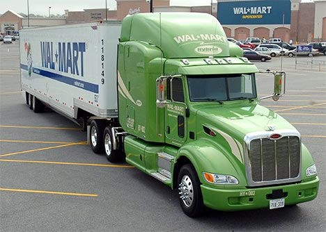 Wal-Mart Tests New Diesel-Hybrid Trucks, Reclaimed Cooking Grease and LNG Fuels : TreeHugger - Trucks are cool!