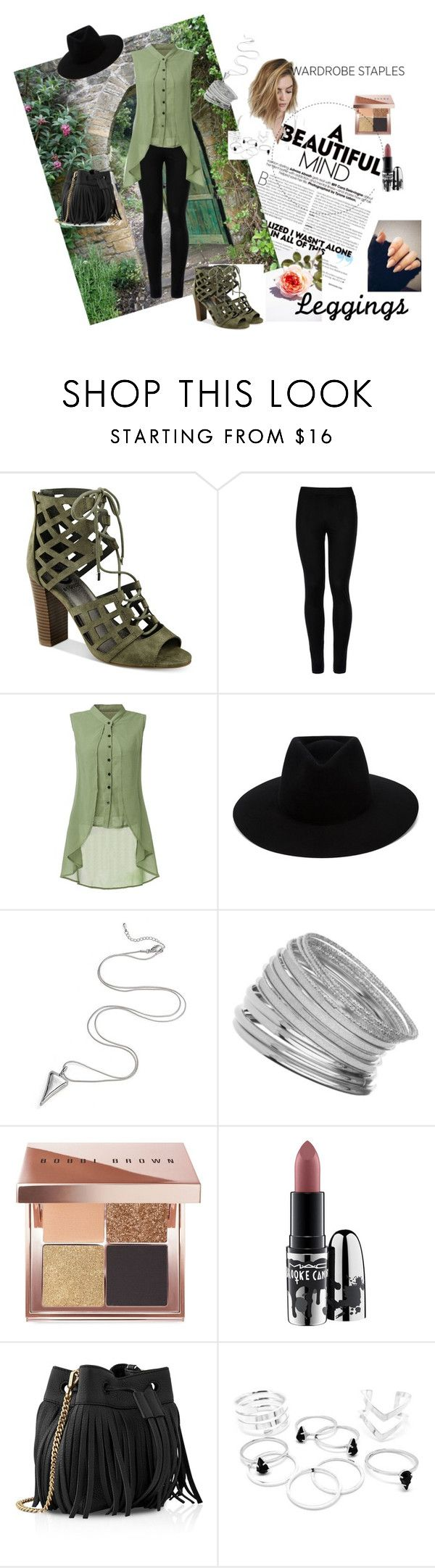"""Laidback leggings"" by jessicashanee1 ❤ liked on Polyvore featuring G by Guess, Wolford, rag & bone, Miss Selfridge, Bobbi Brown Cosmetics, MAC Cosmetics, Whistles, Leggings and WardrobeStaples"