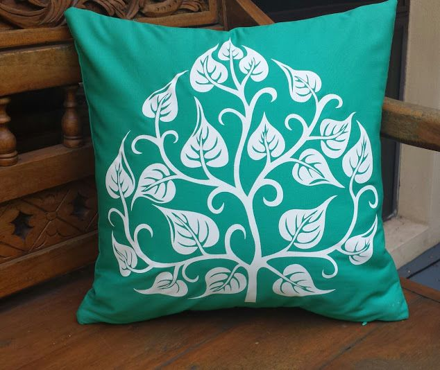 STYLISH AQUA GREEN CUSHION COVER TREE OF LIFE BOHO ETHNIC 40X40CM $21