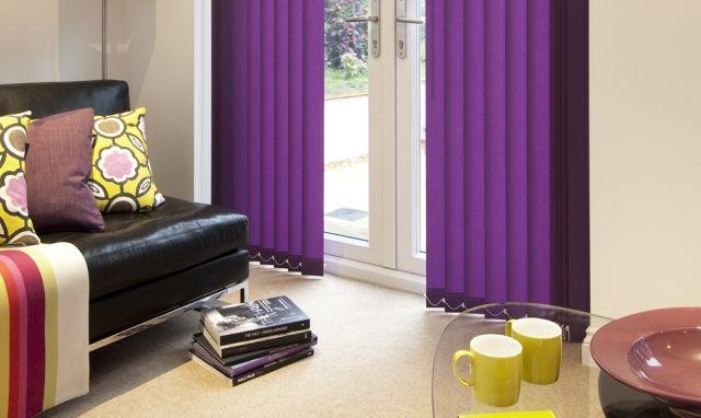 Lamellenvorhang vertikalanlage-modern-lila Sonnenschutz Produkte