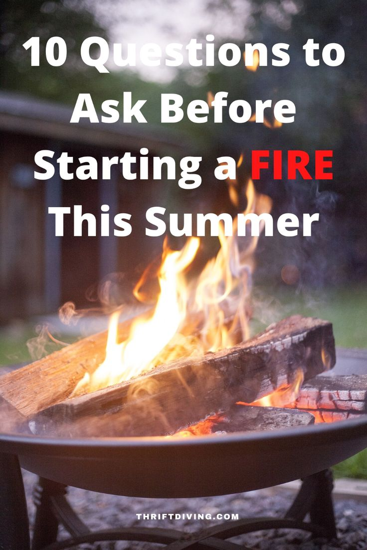 how to start a fire in a fire pit with fire starter