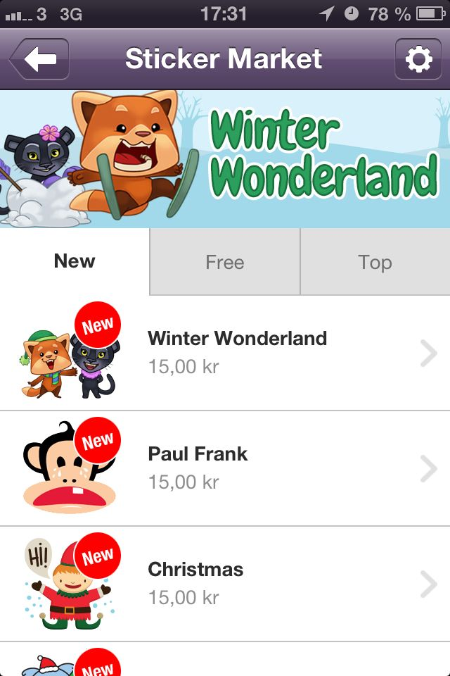 Winter wonderland viber sticker