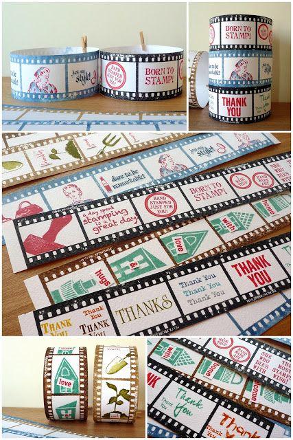 Darkroom Door Filmstrip Border Stamp. Projects by Emilia Hsu
