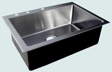 Custom Stainless Steel Kitchen Sinks # 3708