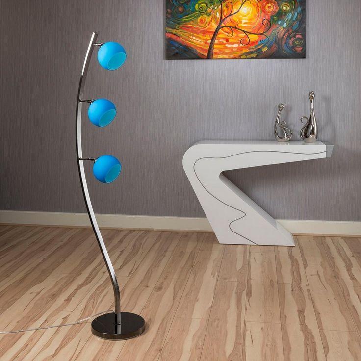 Superb quality blue glass standard floor lamp light lighting cocoon lighting manufacturersmodern lightinglighting ideasthe