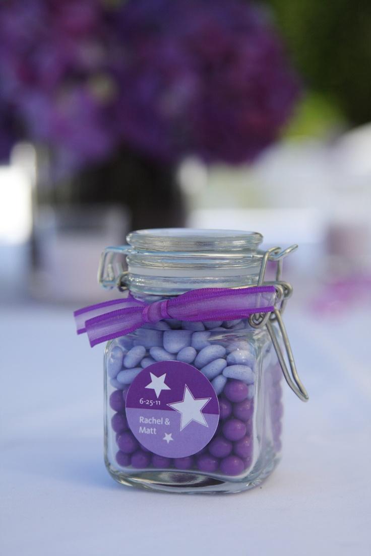 Purple Candy Favors