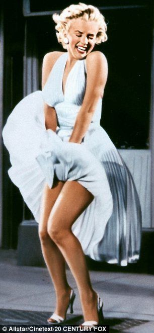 Marilyn Monroe - The Seven Year Itch (Billy Wilder, 1955) Gorgeous woman . Confident & independent . Like everyone else NOT perfect , but someone to look up to .