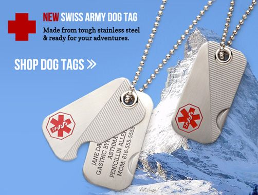 Medical Alert Id Bracelets Medical Id Dog Tags For Men
