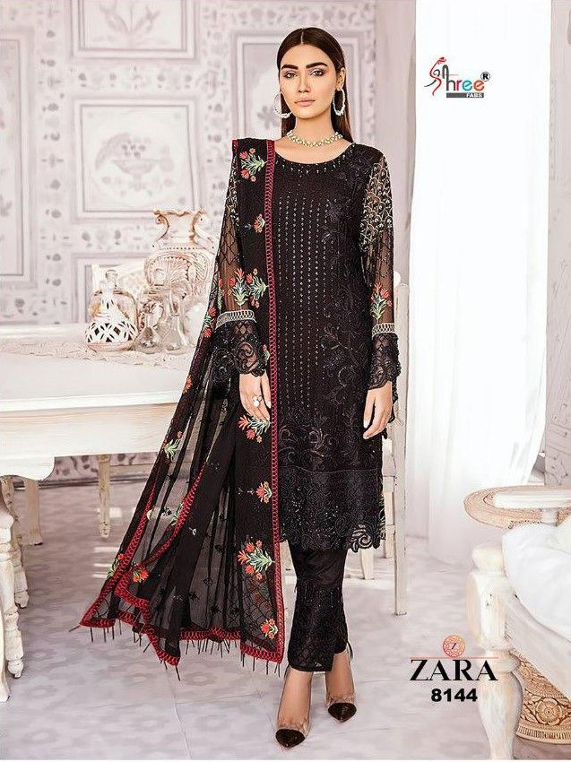 2e46e0789a Shree Fab Zara Georgette Pakistani Suit (7 Pc Set) | Pakistani Suit ...