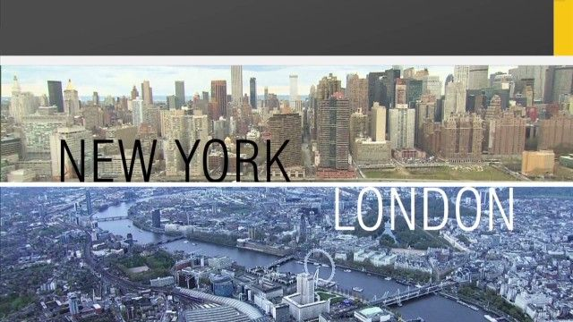 Airlines compete for business travelers between New York and London.