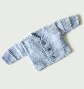 This is a free Pattern!!! Garter Ridge Baby Cardigan Pattern (Knit)