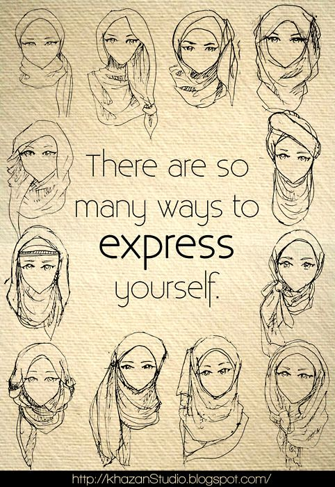 So many different ways to express ourselves , Islam gives us that Freedom, Alhamdulillah !