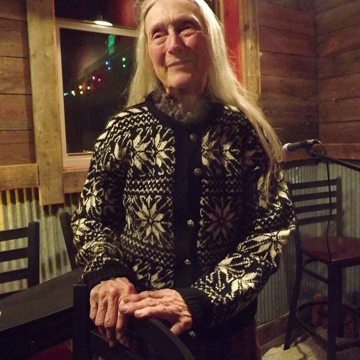 She knit this sweater for her mom during the 1980s. She's also a spinner, felter, and a classically trained musician who plays the harp, violin, accordion, and much more. They live in an off grid handbuilt house with no running water. Right now she is focusing on teaching herself French accordion songs from between WW1 & WW2.