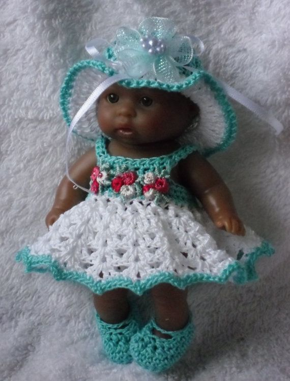 Crochet Pattern Baby Doll Clothes : Crochet pattern for Berenguer 5 inch baby doll all-in-one ...