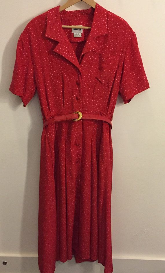 tie waist shirt dress - Red Fay S9O9DaSEh