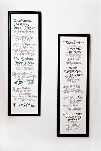 framed wedding vows - Google Search