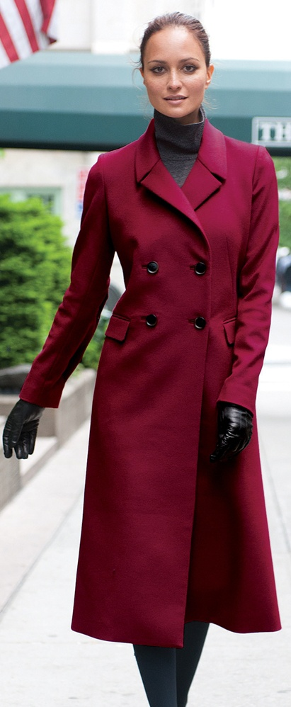 Winter Style Red Coat #Fashion