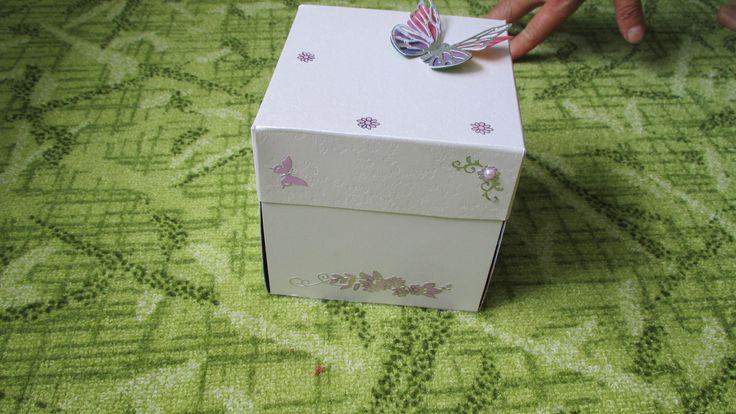 krabička - přání - papír