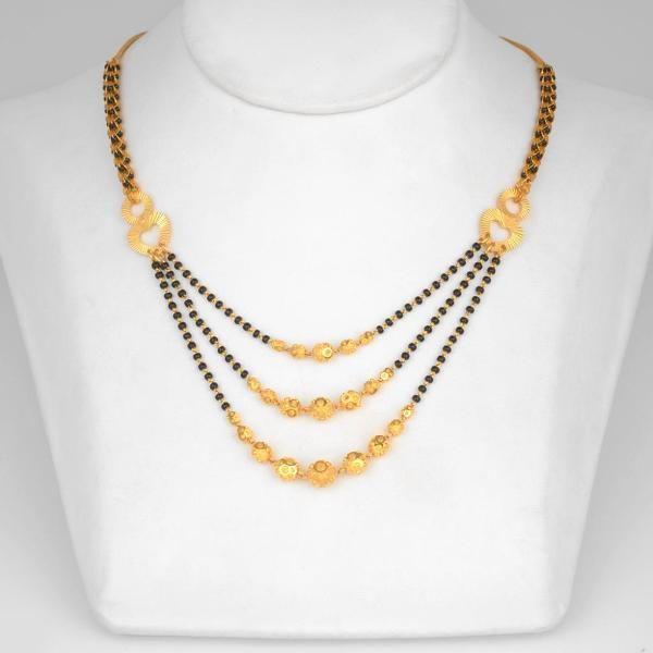 Jewellery Gold Ganthan Black Beaded Jewelry Gold