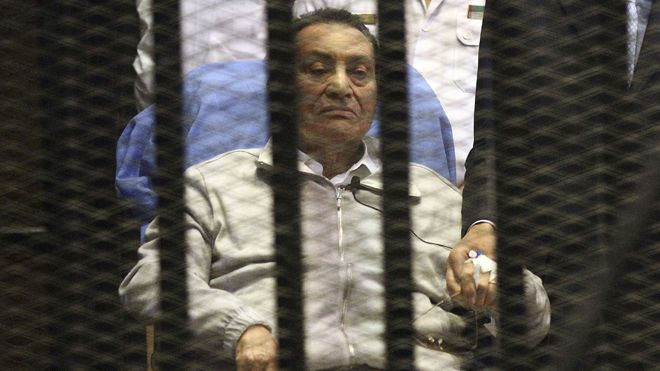 Report: Former Egyptian President Hosni Mubarak to be freed - 08/19/13: Egyptian judicial officials have ordered former President Hosni Mubarak freed from jail. Mubarak has been previously ordered released in two other court cases against him - the killing of protesters during the 2011 uprising that toppled him and another in case, on illegal earnings. He cannot be held in custody anymore because of a two-year limit pending a final verdict.