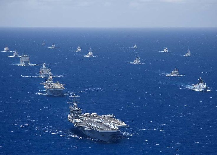 U S Navy:  Ships and submarines participating in the Rim of the Pacific (RIMPAC) 2012 exercise are seen underway in close formation during the exercise on July 27, 2012.  #usnavy
