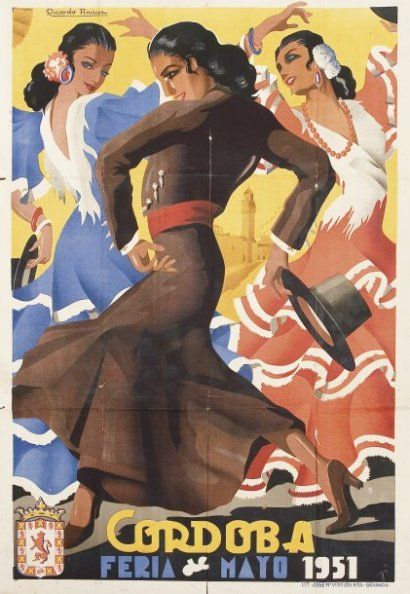 TAUROMACHIE ANAYA Ricardo. Affiche pour la Feria de Cordoba de