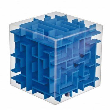 Magic Cube Maze Labyrinth Rolling Ball Balance Brain Teaser Toy by Completestore by Completestore